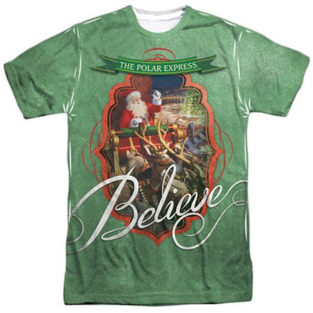 Polar Express Animated Fantasy Movie Santa Believe Adult Front Print T-Shirt](Express Women)