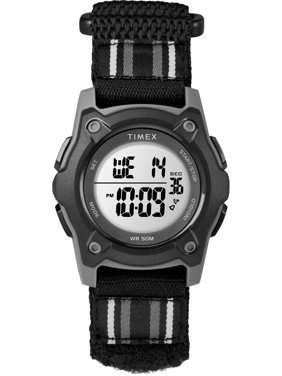 Timex Kids Time Machines Digital 35mm Black Watch, Double-Layered Fast Wrap Strap