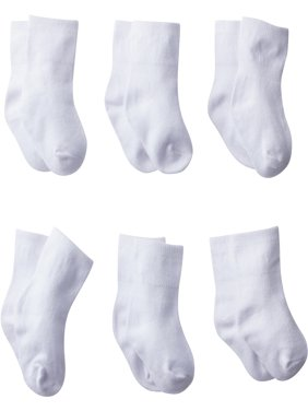 Baby Boy or Girl, Unisex Wiggle-Proof Jersey Ankle Bootie Socks, 8-pack