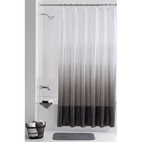 Mainstays Twilight PEVA 13 Piece Shower Curtain with Roller Glide Hooks Set