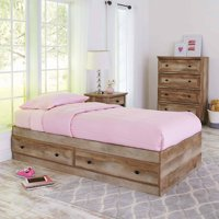 Better Homes and Gardens Crossmill Mates Twin Bed, Weathered Finish