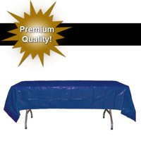 Exquisite 12 Pack Navy Blue Plastic Tablecloth, 108 x 54 Inch