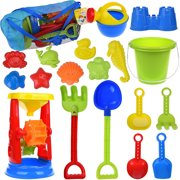 0b49fd99cda Kids Beach Sand Toys Set for Gift with Sand Molds