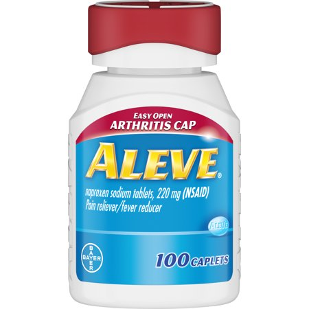 Aleve Easy Open Arthritis Cap Pain Reliever/Fever Reducer Naproxen Sodium Caplets, 220 mg, 100 -