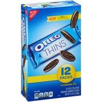 (2 Pack) Nabisco Oreo Thins Chocolate Sandwich Cookies, 12oz, 12ct