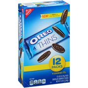 (2 Pack) Nabisco Oreo Thins Chocolate Sandwich Cookies, 12oz, 12ct