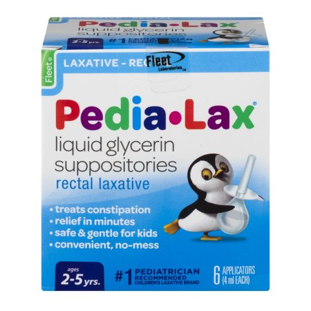 Glycerin Suppositories Laxative Adult (Fleet Pedia-Lax Liquid Glycerin Suppositories Rectal Laxative, 6.0 CT)