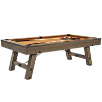 Barrington 8 Ft. Sutter Premium Billiard Table with Cue Set and Accessory Kit, Pool Table, 96 inch, Oak Grey