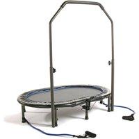 Stamina 55-Inch Trampoline InTone Oval Jogger, with Handlebar, Black