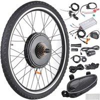 "26""x1.75"" Rear Wheel Electric Bicycle LCD Display Motor Kit E-Bike Conversion 48V1000W"