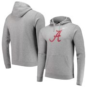 36f9db29b Alabama Crimson Tide Nike Logo Club Fleece Pullover Hoodie - Heathered Gray
