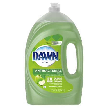 Dawn Ultra Antibacterial Hand Soap, Dishwashing Liquid Dish Soap, Apple Blossom Scent, 75 fl oz