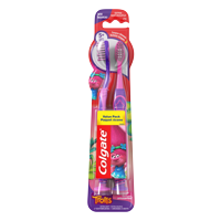 (2 pack) Colgate Trolls Kids Manual Toothbrush with Suction Cup, Extra Soft, 2 Count Each