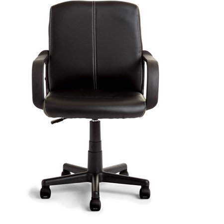 Office chair walmart Small Mainstays Leather Midback Rolling Swivel Office Chair Walmart Mainstays Leather Midback Rolling Swivel Office Chair Walmartcom
