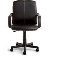 Mainstays Leather Mid-Back Rolling Swivel Office Chair