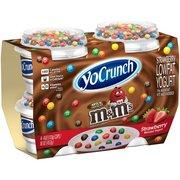 YoCrunch Lowfat Strawberry Yogurt with M&M's, 4 Oz., 4 Count