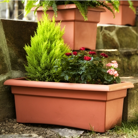 Bloem Veranda Window Deck Box Planter 26 x 11 Terra (Make Wooden Planter Box)