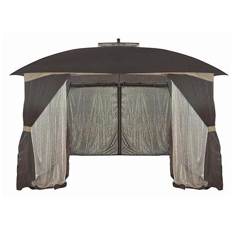 Mainstays Botanical Patterned 10' x 12' Sheer Netting Gazebo
