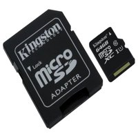 64GB microSDHC Canvas Select 80R CL10 UHS-I Card + SD Adapter
