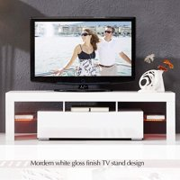 Nordic Modern LED TV Stand Home Living Room TV Cabinet High Gloss TV Stand Home Decorative Entertainment Center Media Console Furniture