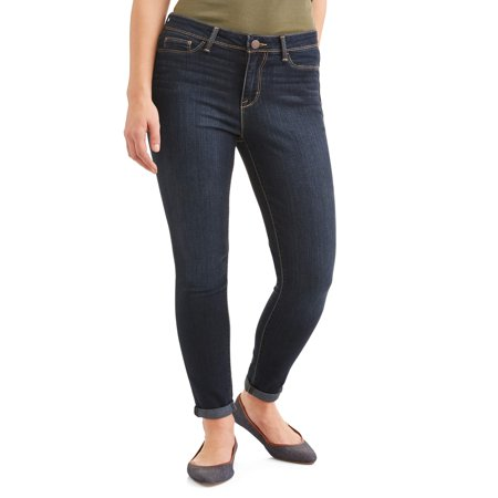 Cashmere Striped Jeans (Women's High Rise Super Skinny Ankle Jean )