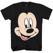 68fc2dbbf Disney Mickey Mouse Face Big Smile Disneyland World Retro Classic Vintage  Tee Funny Humor Adult Mens
