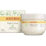 Burt's Bees Night Cream for Sensitive Skin, 1.8 oz