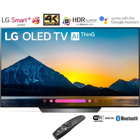 "LG OLED55B8PUA 55"" Class B8 OLED 4K HDR AI Smart TV (2018 Model) – (Certified Refurbished) (OLED55B8PUA OLED55B8 55B8)"