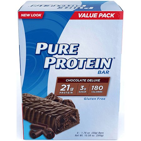Pure Protein Bar, Chocolate Deluxe, 21g Protein, 6 (Best 30 Gram Protein Bars)