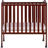 Dream On Me 2-in-1 Lightweight Portable Crib, Cherry