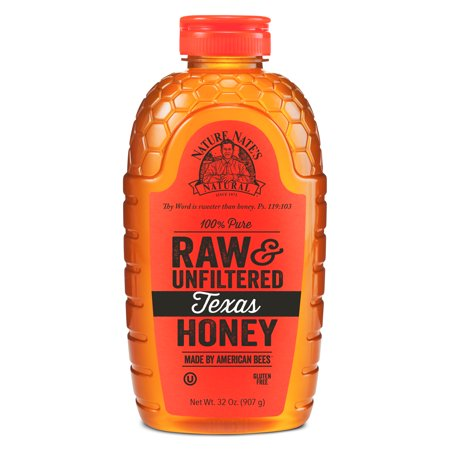 Nature Nate's Texas Honey, 100% Pure, Raw and Unfiltered, Non-GMO, 32 Oz - Hot Rod Honey