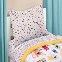 Mainstays Kids Colorful Squares Coordinating Printed Sheet Set
