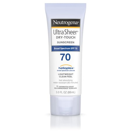 Neutrogena Ultra Sheer Dry-Touch Water Resistant Sunscreen SPF 70, 3 fl. oz