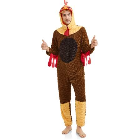 Men's I Am a Rooster Onesie Fleece Union Suit