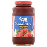 (3 Pack) Great Value Strawberry Preserves, 32 oz