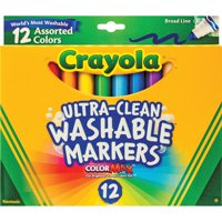 Crayola Ultra-Clean Washable Markers, School Supplies, 12 Count
