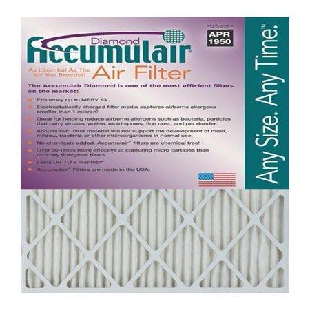 Accumulair Diamond 1-Inch MERV 13 Air Filter/Furnace Filters (2