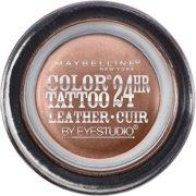 Maybelline Eyestudio ColorTattoo Leather 24HR Cream Eyeshadow, Creamy Beige, 0.14 Oz