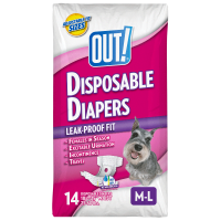 Out! Pet Care Disposable Female Dog Diapers | Absorbent With Leak Proof Fit