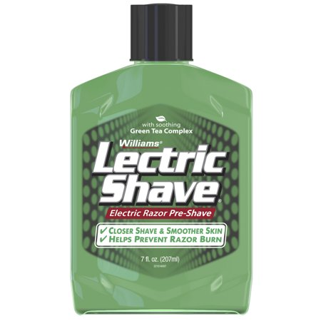 Williams Lectric Shave, Electric Razor Pre-Shave, With Soothing Green Tea Complex, 7 Fluid Ounce -