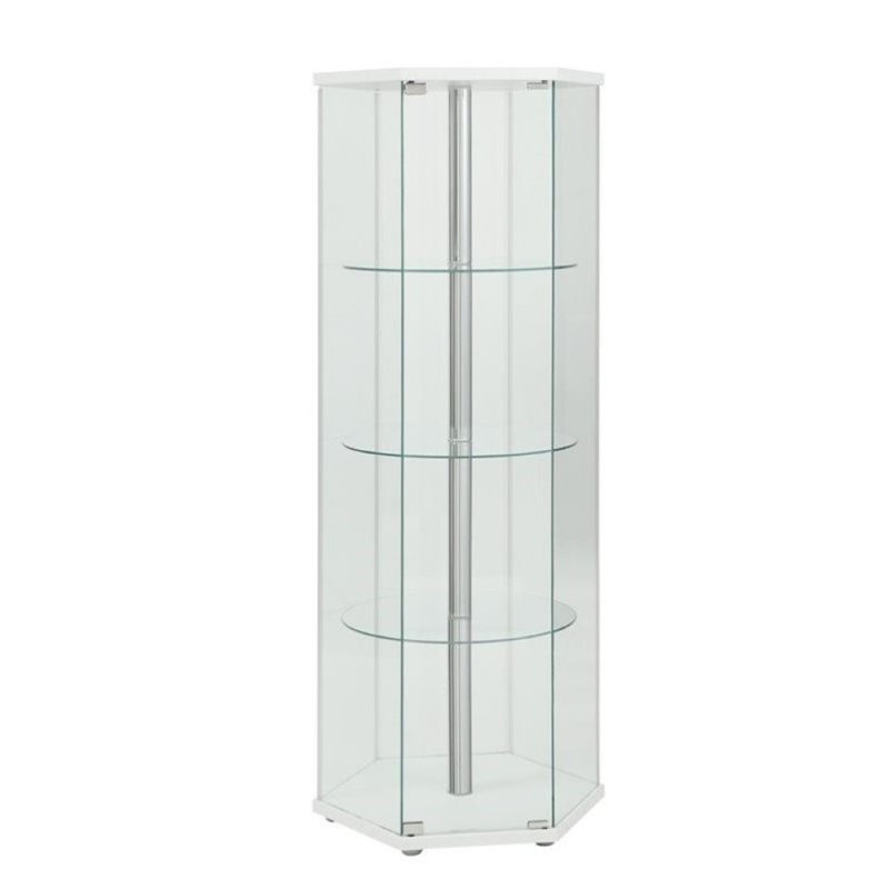 New White Curio Cabinet Glass Doors Plans Free