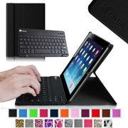 Apple iPad 4, iPad 3 & iPad 2 Keyboard Case - Fintie SlimShell Stand Cover with Detachable Bluetooth Keyboard, Black
