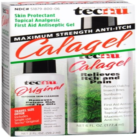 - Tec Laboratories Tecnu Calagel First Aid Antiseptic Gel, 6 oz