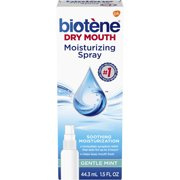 (3 pack) Biotene Gentle Mint Moisturizing Mouth Spray, Sugar-Free, for Dry Mouth and Fresh Breath, 1.5 ounce