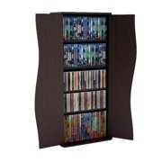 "Atlantic Inc Venus 35"" Small Media Shelf Storage Cabinet in Espresso"