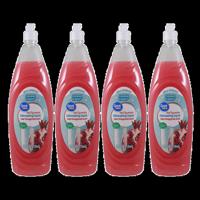 (4 Pack) Great Value Hand Rejuvenation Dishwashing Liquid, Fresh Pomegranate Scent, 24 oz