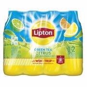 (24 Bottles) Lipton Green Tea Citrus Iced Tea, 16.9 Fl Oz