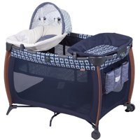 Monbebe Flex Deluxe Portable Playard with Bassinet, Boho