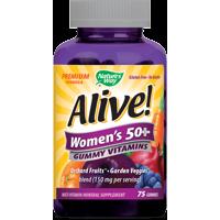 Nature's Way Alive! Women's 50+ Gummy Vitamins, Multivitamin Supplements, 75 Count