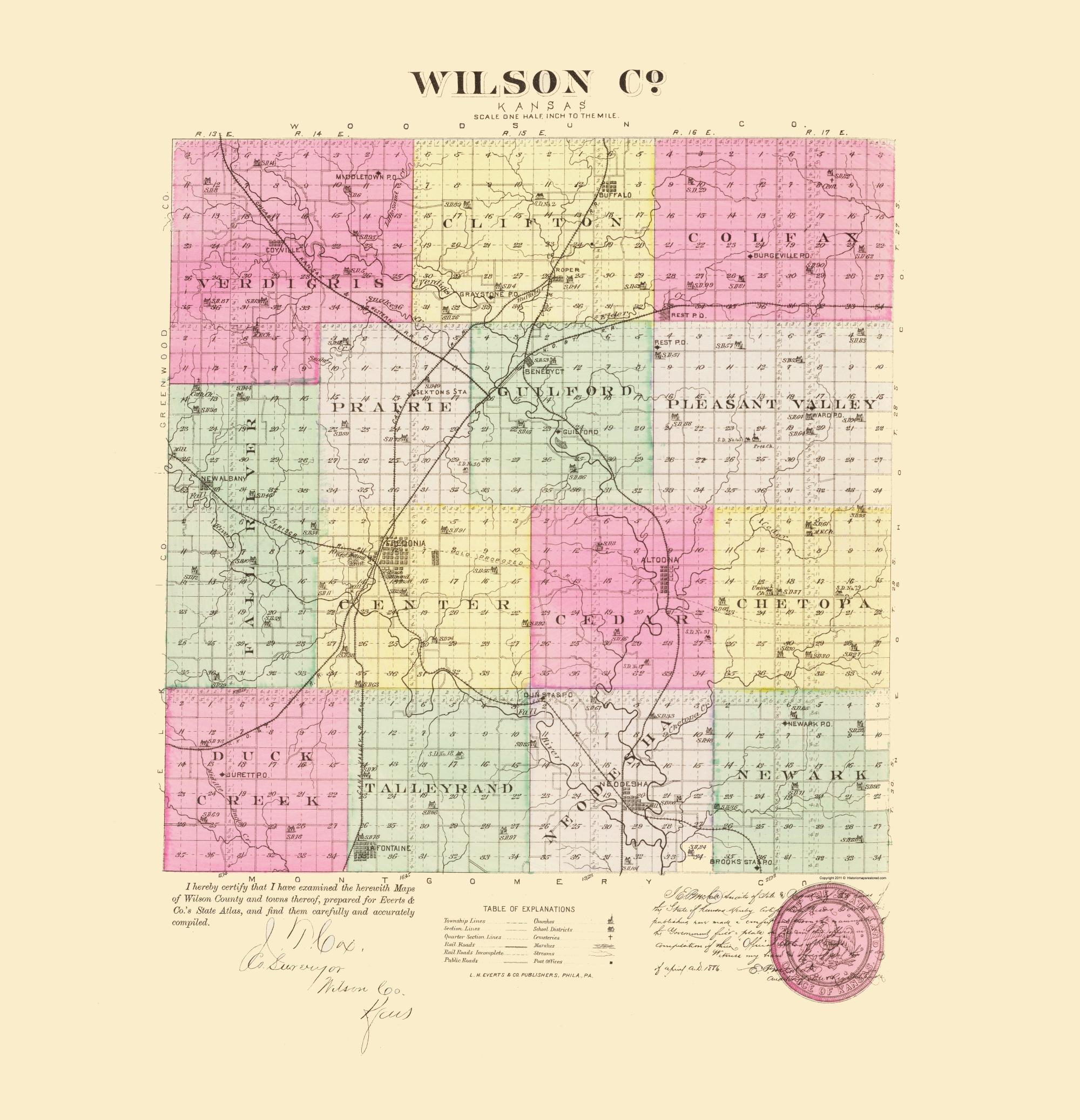 Everts 1887-23 x 27.21 Ellsworth Kansas